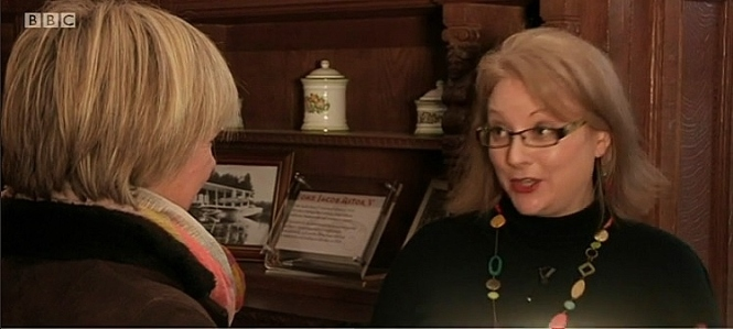 Me talking to BBC Inside Out (South East) presenter Natalie Graham about the 50th Anniversary of Winston Churchill's funeral. On location at Hever Castle, Kent. January 2015. Broadcast BBC One, Monday 26th January.