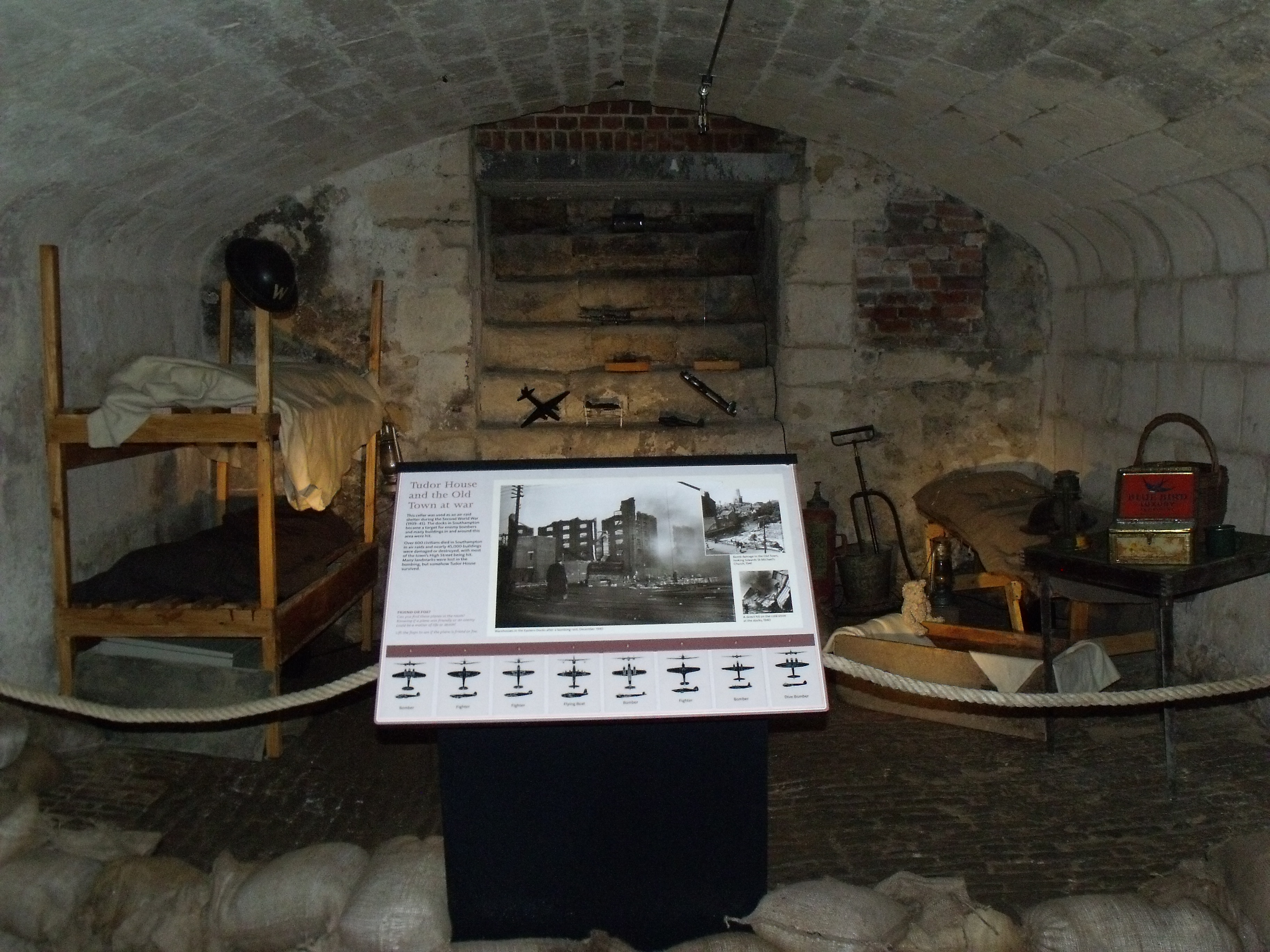 World War Ii Air Raid Shelter Display Tudor House And Garden Southampton Hampshire Come