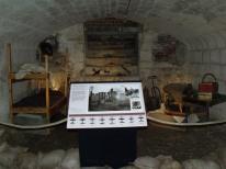 World War II air-raid shelter display, Tudor House and Garden, Southampton, Hampshire