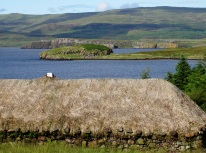 View of Loch Dunvegan from Colbost Folk Museum, Colbost, Isle of Skye.