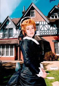 Tara Howard Proprietress of Langtry Manor Hotel, Bournemouth dressed as Lille Langtry. Image supplied by kind permission of Ms Howard.