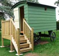 Restored 19th Century Shepherd's Hut in the grounds of Mottisfont Abbey, Romsey, Hampshire.