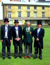 From left to right: 'sir' John Pheasant; 'sir' Michael Moore; 'sir' Graham Hart and 'sir' David Winney.