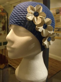 Snazzy, vintage rubber bathing hat. Portsmouth City Museum.