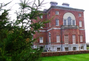 Side view of Barlaston Hall.