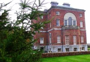 Side view of Barlaston Hall.