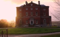Barlaston Hall. The imposing country house that greets the visitor at the start of the long driveway leading-up to The Wedgwood Museum. This is now a private residence and is only ocassionally open to the public for pre-booked visits. The house was built in 1756-8 for lawyer Thomas Mills from Leek. It overlooks the Trent Valley and the octagonal diamond sash windows are a rare surviving trademark of Taylor's work.