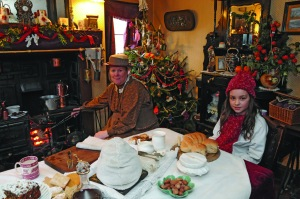 Victorian Christmas celebrations at Blists Hill. Duke of Sutherland Cottage.