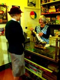 Inside the 1940s sweet shop. Milestones.