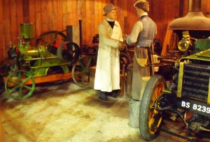 Reverend H.A. Acheson-Gray takes his 1903, 10hp, Thornycroft motorcar to be repaired at the local blacksmith.