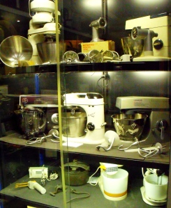 A spent ages in Collectors Corner and fans of vintage domestic bygones will too. There a cabinets full of kitchenalia. This one was full of vintage electric mixers.