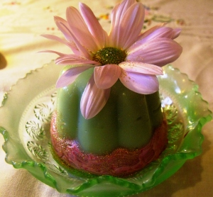 Another version of my crème de menthe blancmange.