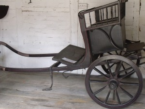 The donkey cart that the Austen ladies used whilst living at Chawton. Jane Austen's House and Museum.