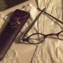 Glasses and case belonging to Jane Austen's mother. On display at Lyme Regis Museum.