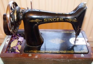 My grandmother's 1948 Singer sewing machine.