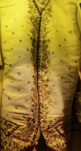 Regency gentleman's waistcoat. On display at Lyme Regis Museum.