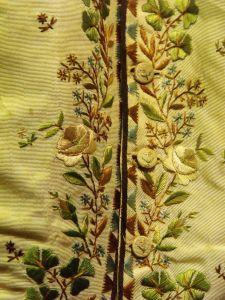 Regency waistcoat detail. Lyme Regis Museum.