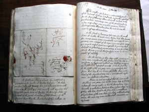 Gilbert White's original manuscript of The Natural History of Selborne (1789). By kind permission of Gilbert White's House and Garden.