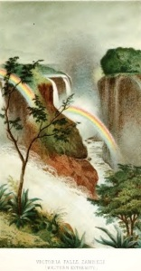 Victoria Falls from a water-colour drawing by Frank Oates.