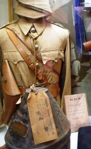 Uniform similar that worn by Lawrence during the Boer War in South Africa. On loan to Gilbert White's House and Garden from the The Inniskilling Dragoon Museum.