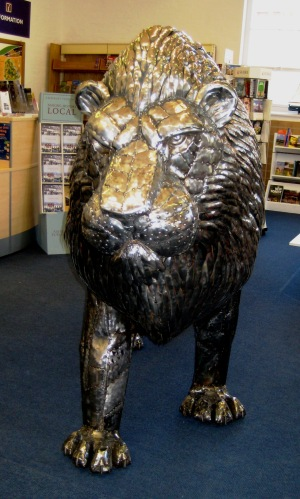 Michael Turners Lion at St. Barbe Museum