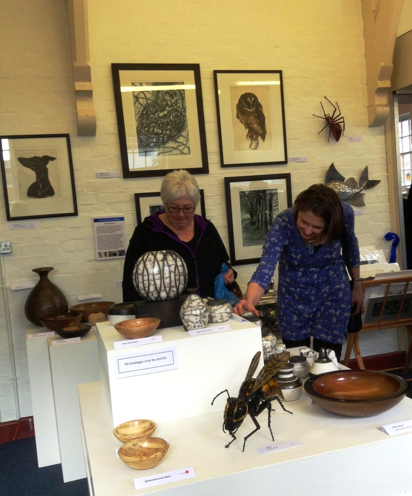 Arts & Crafts selling Exhibition featuring the work of regional artists. The Old School Gallery, St. Barbe Museum, Lymington.