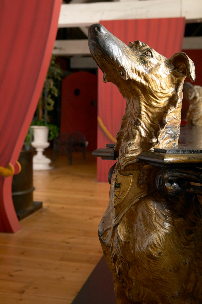 ©Ironbridge Gorge Museum Trust. A close-up of the Deerhound Table on display at the Museum of Iron, one of the Ironbridge Gorge museums in Coalbrookdale.