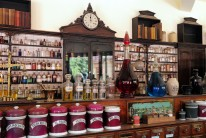 ©Ironbridge Gorge Museum Trust. The Pharmacy at Blists Hill Victorian Town, Shropshire.