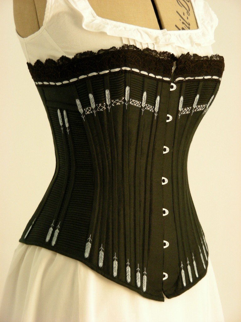 ©Ironbridge Gorge Museum Trust. A Reproduction (1) Corset from the 1890s made by The Costume Project team. Notice the beautiful stitch detail on the corset.