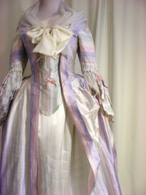 ©Ironbridge Gorge Museum Trust. Reproduction 2 of the Mantua Gown 1740s, made by The Costume Project at Ironbridge.