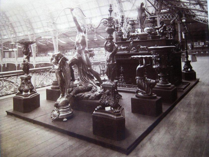 ©Ironbridge Gorge Museum Trust. Coalbrookdale Co Statues at the Kensington Olympia Exhibition, 1889. The Victorians couldn't get enough of cast iron products. They were everywhere.