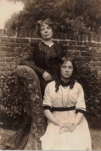 The lady standing-up is my great, great, grandmother. Photograph is dated c.1911.