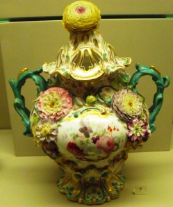 ©Come Step Back In Time. Coalbrookdale ware pot-pourri vase 1830-1935.