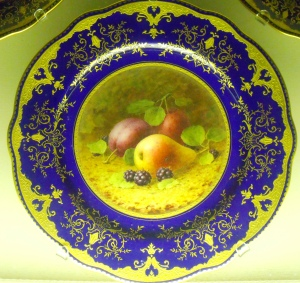 ©Come Step Back in Time. Coalport plate with fruit painted by Frederick Chivers and Fred Howard.