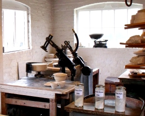 ©Come Step Back in Time. The Jigger and Jolley on display in the educational workshop area of Coalport China Museum.
