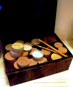 ©Come Step Back in Time. Thought to be the paintbox used by John Randall whilst employed at Coalport.