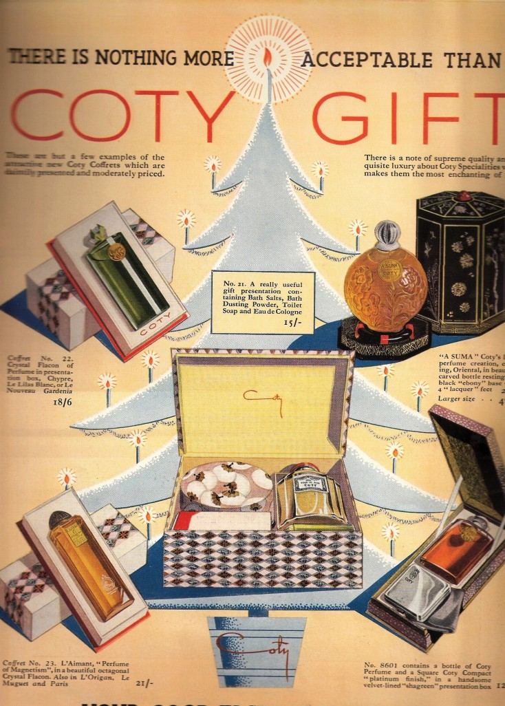 Advertisement for Coty beauty products from 1935.