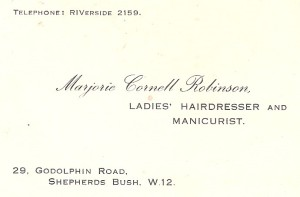 Grandmother's original business cards from the 1930s.