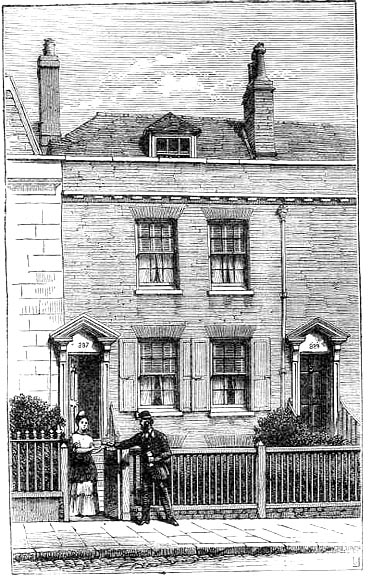 The house in Landport, Southsea (as it appeared in 1871) where Charles Dickens was born, 7th February 2012.Now the Charles Dickens' Birthplace Museum. Image source: The Victorian Web.