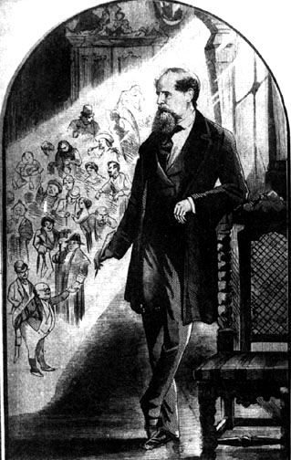 Charles Dickens, 25th June, 1870. Featured in The Tomahawk (London). Image source: The Victorian Web