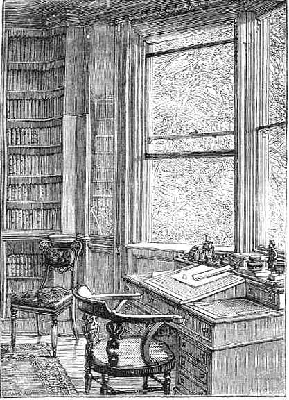 Dickens's Study at Gad's Hill, Higham, Kent. Image Source: The Victorian Web.