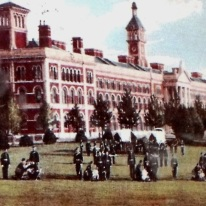 Postcard showing the Royal Victoria Military Hospital, Netley.