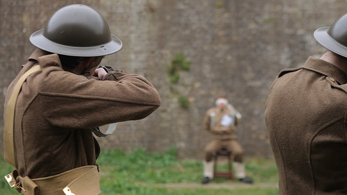 The firing squad scene.