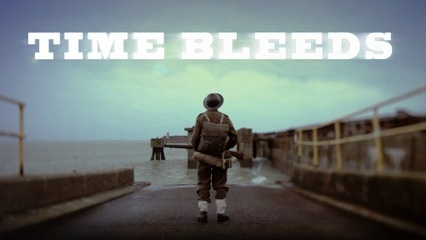 Film poster for Time Bleeds (2013).  Experimental documentary by Kent-based Viola Films. Directed by Samuel Supple and Produced by Debra McGee. Image courtesy of Viola Films.