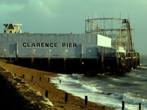 Clarence pier, Southsea as it appeared in November, 2013. Opened on the 1st June, 1861, extended in 1874 and 1882. It was originally called Southsea pier but when South Parade pier opened, it was renamed to avoid any confusion. On the 10th January, 1941, the Clarence was extensively damaged by enemy action. It did not reopen until 1st June, 1961. ©Come Step Back In Time.