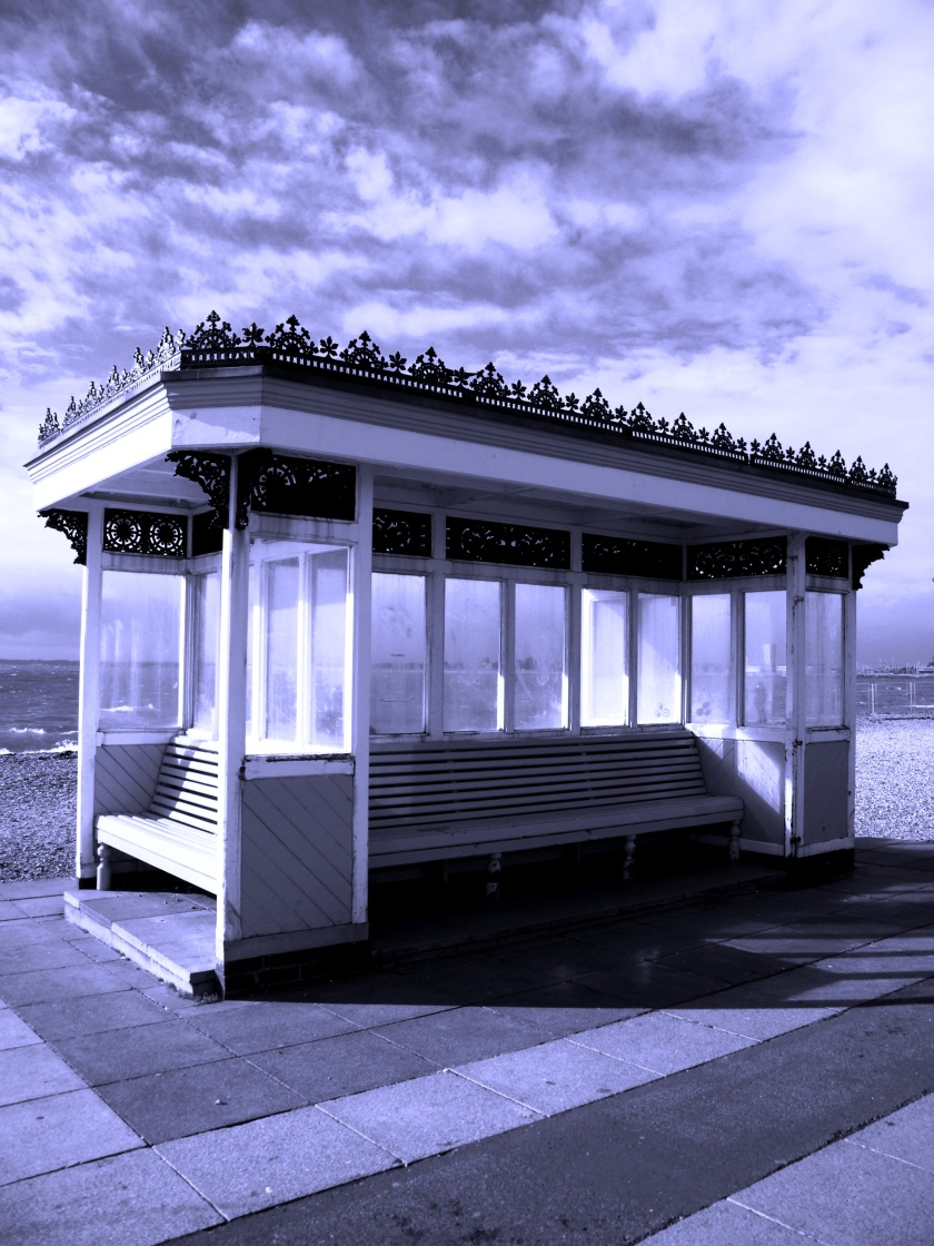 Heritage shelter on Southsea, seafront. November, 2013. ©Come Step Back In Time.
