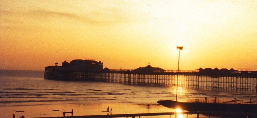 Brighton Pier at Dusk, early 1980s. From our family archives. ©Come Step Back In Time.