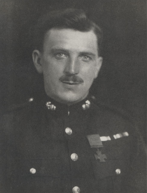 Sgt Norman Finch Royal Marine Artillery wearing his Victoria Cross, c1920. Location unknown. Kalamazoo number: 9/2/B5 (1) ©Courtesy of the Trustees of the Royal Marines Museum