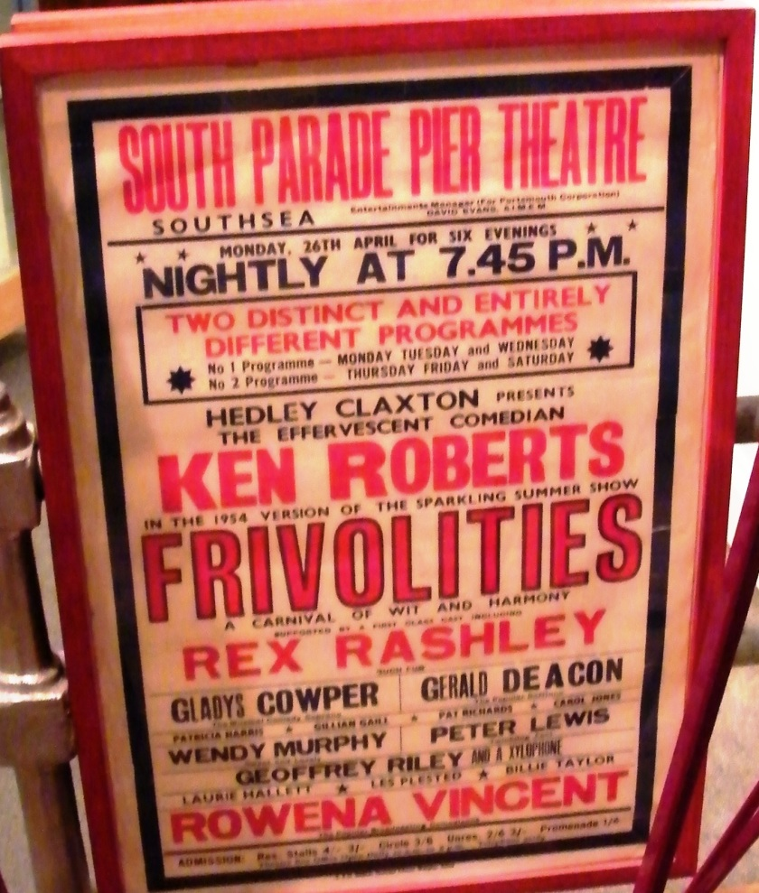 1954 poster for South Parade Pier Theatre, Southsea. On display at Portsmouth City Museum.