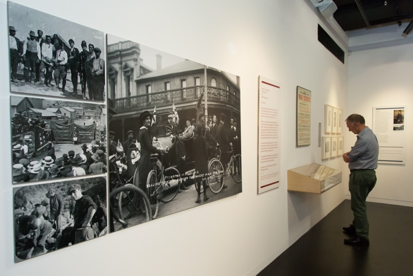 'World War One: A Contemporary Conversation' exhibition, at The National Library of New Zealand. (http://natlib.govt.nz/). ©National Library of New Zealand.
